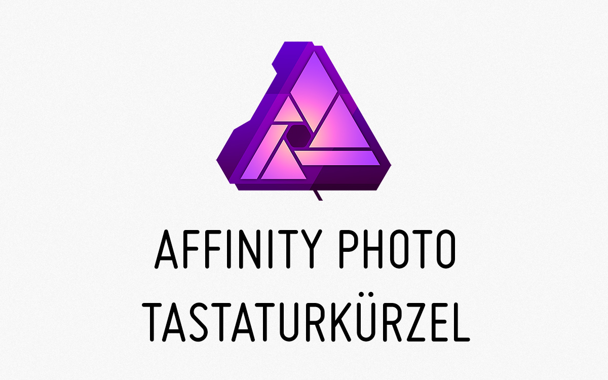 pinselgröße affinity photo tastaturbefehle tastenkürzel keyboard shortscuts