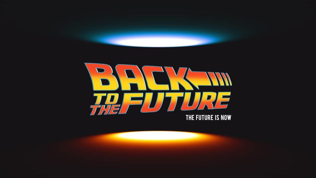 back to the future text effekt