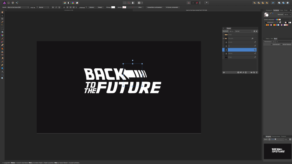 back_to_the_future_text_effect_tutorial_1