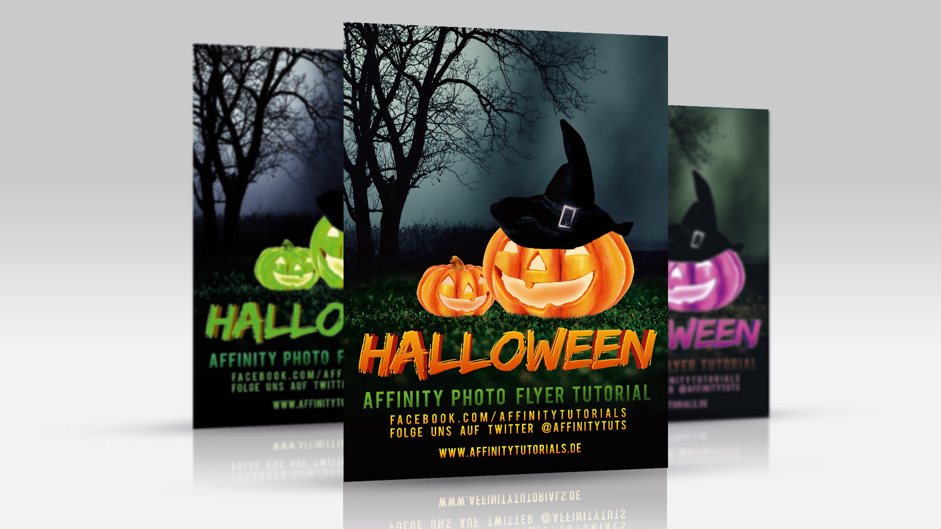 halloween flyer tutorial affinity photo