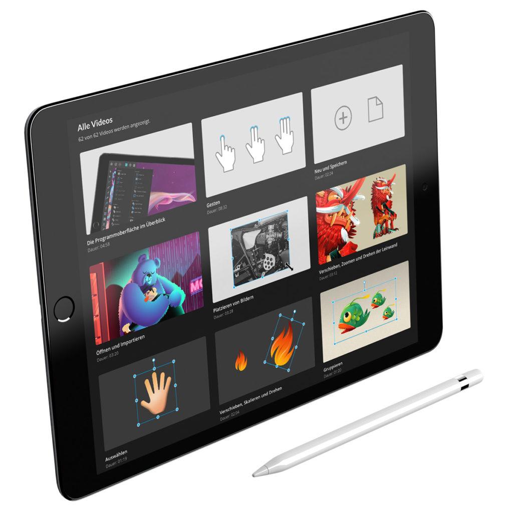 Affinity Designer iPad ist da affinitytutorials